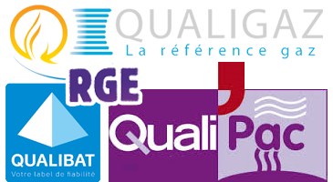 logos Qualibat qualipac qualigaz